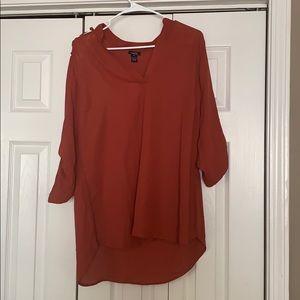 Women's all orange blouse